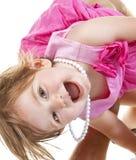 婴孩逗人喜爱的作用 免版税库存图片