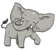 婴孩逗人喜爱的大象 免版税图库摄影