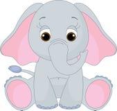 婴孩逗人喜爱的大象 皇族释放例证
