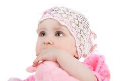 婴孩逗人喜爱的女孩 免版税库存照片