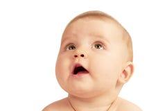 婴孩逗人喜爱的小的纵向 库存图片