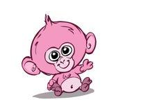 婴孩逗人喜爱的猴子 向量例证