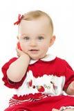 婴孩逗人喜爱的电话 免版税图库摄影