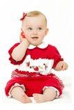 婴孩逗人喜爱的电话 图库摄影