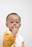 婴孩逗人喜爱的纵向 免版税图库摄影