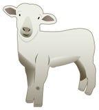 婴孩逗人喜爱的绵羊vectorize 免版税库存照片