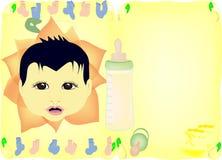 婴孩邀请阵雨 图库摄影