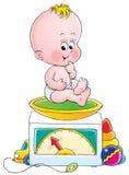 婴孩重量 库存图片