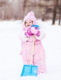 婴孩锹玩具 免版税库存图片
