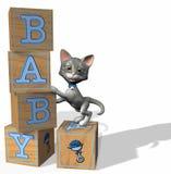婴孩阻拦蓝色 免版税库存图片