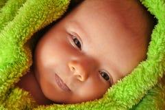 婴孩陈列技巧舌头 免版税库存照片