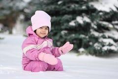 婴孩雪 免版税库存照片