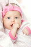 婴孩非常少许纵向甜点 免版税库存图片
