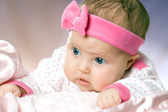 婴孩非常少许纵向甜点 库存照片