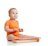 婴孩音乐使用的玩具 免版税库存图片