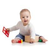 婴孩颜色培训俏丽的玩具 免版税图库摄影