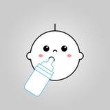 婴孩饮用奶传染媒介 免版税库存图片