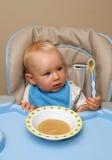 婴孩饲养时间 免版税库存照片