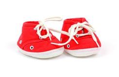 婴孩高运动鞋顶层 免版税库存图片