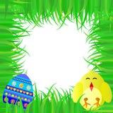 婴孩鸡复活节彩蛋框架 库存例证