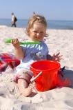 婴孩beach3 免版税图库摄影