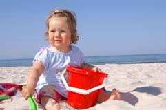 婴孩beach6 库存照片