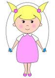 婴孩blondy蛇麻草微笑 免版税图库摄影