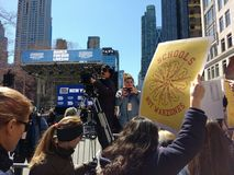 媒介,学校不是Warzones, NYC 3月我们的生活,抗议, NY,美国 免版税库存照片