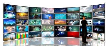媒体屏幕 向量例证