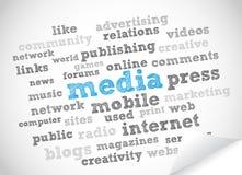 媒体新闻 向量例证