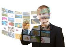 媒体空间 免版税库存图片