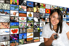 媒体空间 免版税图库摄影