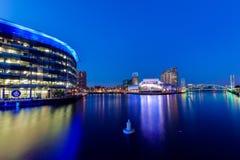 媒介中心曼彻斯特Salford码头 库存图片
