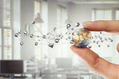 媒介全世界技术概念 混合画法 免版税库存照片