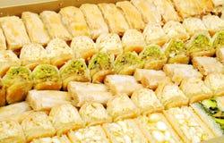 黎巴嫩新鲜的甜点 免版税库存照片