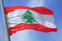 黎巴嫩旗子 免版税库存照片
