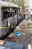黎巴嫩炸弹爆炸 免版税图库摄影