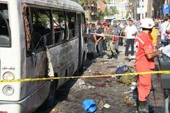 黎巴嫩炸弹爆炸 库存照片