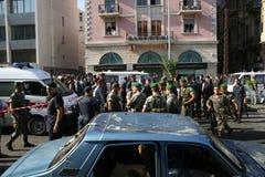 黎巴嫩炸弹爆炸 免版税库存图片