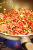 嫩煎的蔬菜 免版税图库摄影