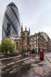 嫩黄瓜,修造在伦敦,英国 库存照片