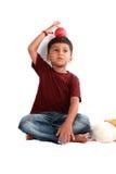 嬉戏印第安的孩子 免版税库存照片
