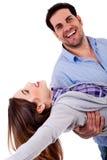 嬉戏夫妇的心情 免版税库存图片