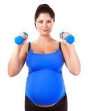 嬉戏怀孕的女孩 免版税库存图片