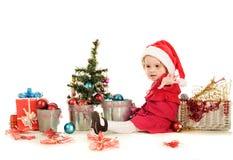 嬉戏的圣诞老人辅助工 免版税库存图片