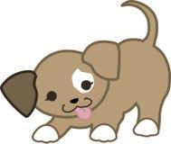 嬉戏的小狗Kawaii 免版税库存照片
