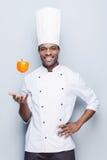 嬉戏的烹饪大师 库存照片