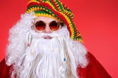 嬉皮圣诞老人 库存照片