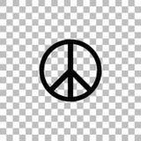 嬉皮平展和平象 库存例证