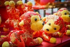 猴子中国人玩偶 免版税库存图片